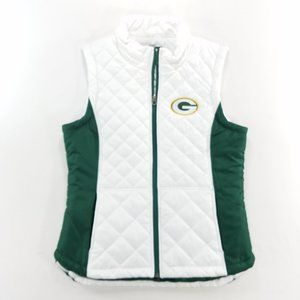 Green Bay Packers NFL Puffer Vest Zip Up Jacket